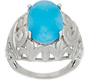 Oval Jade Sterling Silver Ring, - J349653