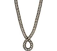 LOGO Links Rhinestone Chain Loop Necklace - J350453