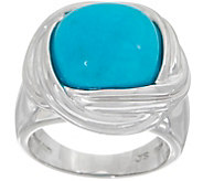 Turquoise Cushion Cut Ring, Sterling Silver - J354253
