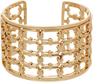 BROOKE SHIELDS Timeless Hexagon Link Detail Cuff Bracelet - J354553