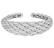 JAI Sterling Silver Sukhothai Twist Cuff, 72.4g - J354953