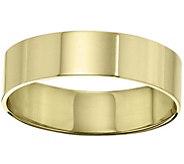 Mens 14K Yellow Gold 6mm Flat Comfort Fit Wedding Band - J375253
