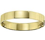 Mens 18K Yellow Gold 4mm Flat Comfort Fit Wedding Band - J375353