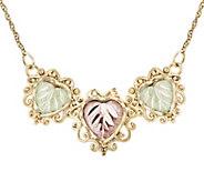 Black Hills Heart Station Necklace, 10K/12K Gold - J384353