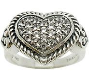 Elyse Ryan Sterling White Topaz Heart Ring - J385453