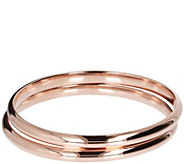 Bronzo Italia Average Set of 2 Polished Bangles - J385953