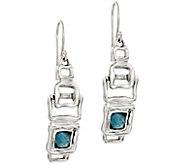 Hagit Sterling Blue Topaz Earrings - J388853