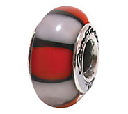 Prerogatives Sterling Red and White Glass Bead - J108854
