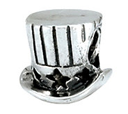 Prerogatives Sterling Uncle Sam Top Hat Bead - J109054