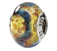 Prerogatives Sterling Yellow & Blue Italian Murano Glass Bead - J111554