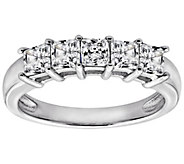 Diamonique 1.00 cttw Princess Cut Ring, Platinum Clad - J111654
