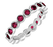 Simply Stacks Sterling Created-Ruby EternityBand Ring - J298654