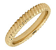 Simply Stacks Sterling 18K Yellow Gold-Plated 3.25mm Ring - J298954