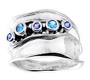 Hagit Gorali Sterling Blue Topaz & Iolite Ring - J312054