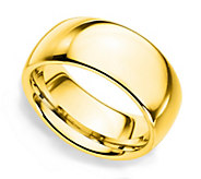 Sterling Silver 10MM Silk Fit Unisex Band Ring,14K Clad - J312254