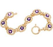 14K Gold 6-3/4 Gemstone Bracelet, 9.8g - J350554