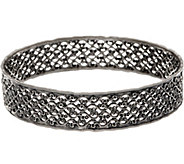 Or Paz Sterling Silver 19.0g Lace Design Bangle - J352454