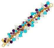 As Is The Elizabeth Taylor Blue and Purple Cluster Bead Bracelet - J353354