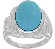 Turquoise Oval Cut Ring, Sterling Silver - J354254