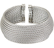 ALOR Cable Stainless Steel 12-Row Wide Cuff - J354554