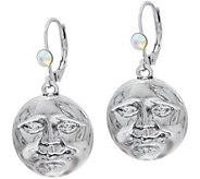 Kirks Folly Metallica 18mm Seaview Moon Lever Back Earrings - J356854