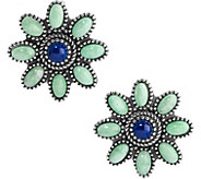 American West Floral Gemstone Earrings - J379554