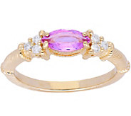 Judith Ripka 14K Gold Sapphire Diamond Ring - J379954