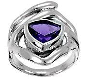 Hagit Sterling 3.25 cttw Trillion Amethyst Ring - J380954
