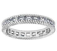 Judith Ripka Sterling 1.30 cttw Baguette Eternity Band Ring - J382454