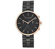 Vince Camuto Mens Multi-Function Black Bracelet Watch - J383454