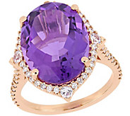 14K 8.10 cttw Multi-Gemstone and 3/8 cttw Diamond Ring - J392354