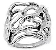 Hagit Sterling Silver Ribbon Ring - J339255