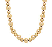 EternaGold 18 Polished & Satin Bead Necklace,14K, 7.5g - J339555