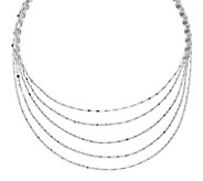 Sterling Silver 5-Strand 17 Necklace b y Silver Style - J342055