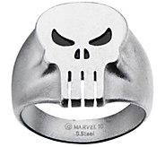 Marvel Stainless Steel Punisher Skull Ring - J343055