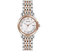 Bulova Ladies Classic Two-tone Bracelet Watch - J343955