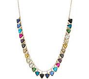 LOGO Links Triangle Stone Necklace - J350455