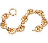 14K Gold 7-1/4 Gemstone Bracelet, 10.50g - J350555