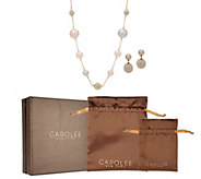 Carolee Bryant Park Simulated Pearl Station Necklace Set - J351055