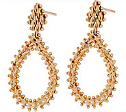 Imperial Gold Wheat Tear Drop Earrings, 14K Gold - J351555
