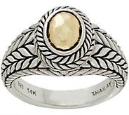 JAI Sterling Silver & 14K Gold Basketweave Ring - J355655
