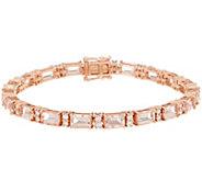 Morganite and Diamond 6-3/4 Tennis Bracelet, 8.15 cttw, 14K - J356655