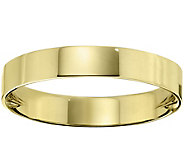 Womens 18K Yellow Gold 4mm Flat Comfort Fit Wedding Band - J375355