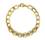 Italian Gold 14K Double Curb Link Bracelet, 5.0g - J384955