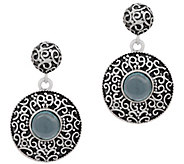 Artisan Crafted Sterling Silver Apatite Disc Earrings - J385155