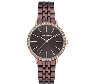 Vince Camuto Women's Crystal-Bezel Watch