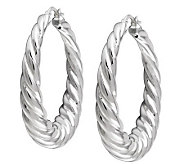 UltraFine Silver 1-1/2 Twisted Hoop Earrings - J110556
