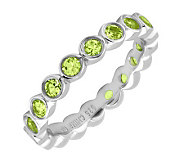 Simply Stacks Sterling Peridot Eternity Style Stackable Ring - J298656