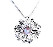 Hagit Gorali Sterling Cultured Pearl Floral Pendant w/Chain - J307656