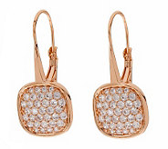Bronze Pave Crystal Dangle Earrings by BronzoItalia - J311956
